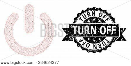 Turn Off Dirty Seal Print And Vector Turn Off Mesh Structure. Black Seal Contains Turn Off Tag Insid