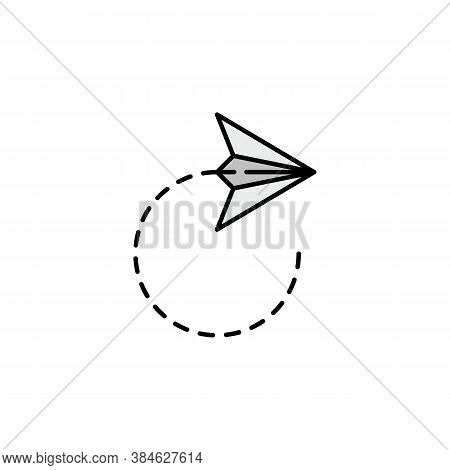 Peper Plane Icon. Element Of Education Illustration. Signs And Symbols Can Be Used For Web, Logo, Mo