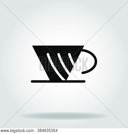 Logo Or Symbol Of Coffe Maker Icon With Black Fill Style
