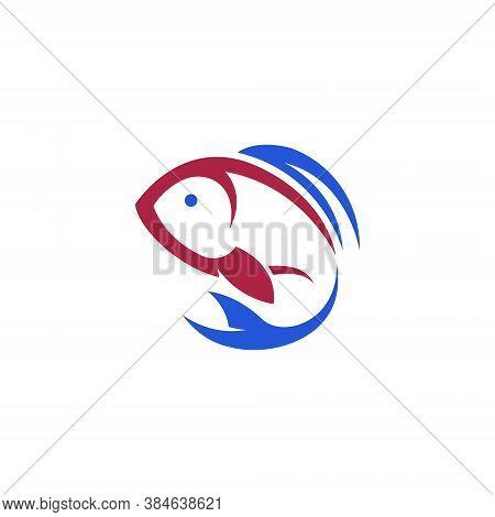 Aquatic Fish Flat Abstract Simple Nature Logo