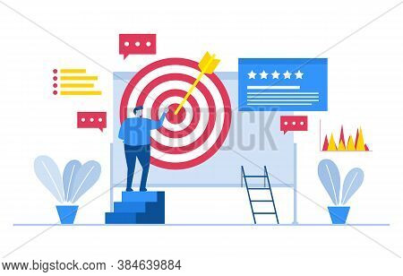 Bullseye Digital Marketing Commerce Mobile Web Analysis Design Illustration