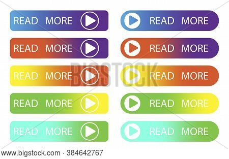 Read More Button. Continue Reading Line. A Set Of Lines. Rectangular Banner For The Site. Vector Ill