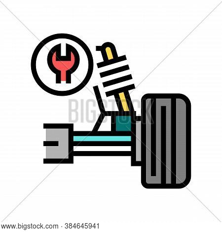 Ball Joint Repair Color Icon Vector. Ball Joint Repair Sign. Isolated Symbol Illustration