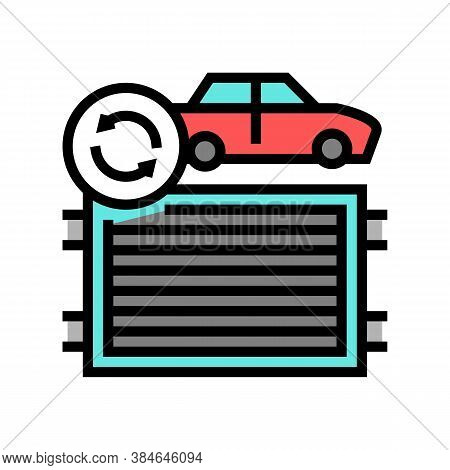 Radiator Replacement Color Icon Vector. Radiator Replacement Sign. Isolated Symbol Illustration