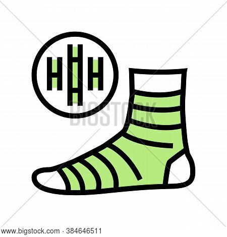 Bamboo Material Sock Color Icon Vector. Bamboo Material Sock Sign. Isolated Symbol Illustration