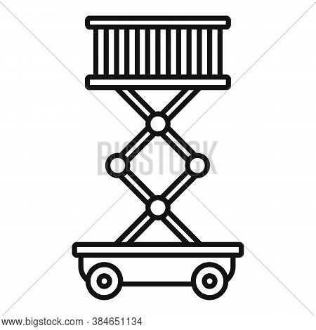 Aircraft Repair Lift Stand Icon. Outline Aircraft Repair Lift Stand Vector Icon For Web Design Isola