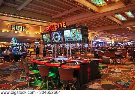 Las Vegas / United States - 05 Jul 2017: The Casino In Las Vegas, United States