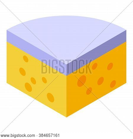 Gouda Cheese Icon. Isometric Of Gouda Cheese Vector Icon For Web Design Isolated On White Background
