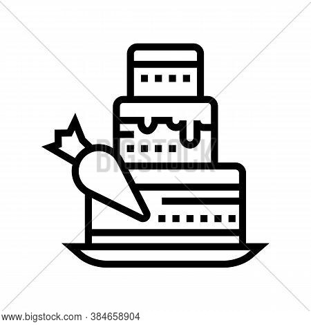 Delicacy Making Line Icon Vector. Delicacy Making Sign. Isolated Contour Symbol Black Illustration