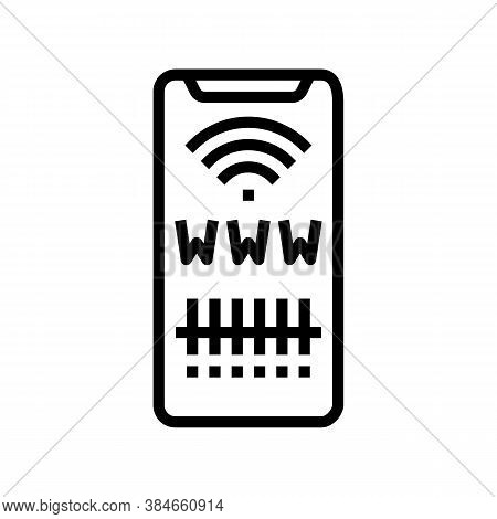 Qr Code For Search Web Site Line Icon Vector. Qr Code For Search Web Site Sign. Isolated Contour Sym