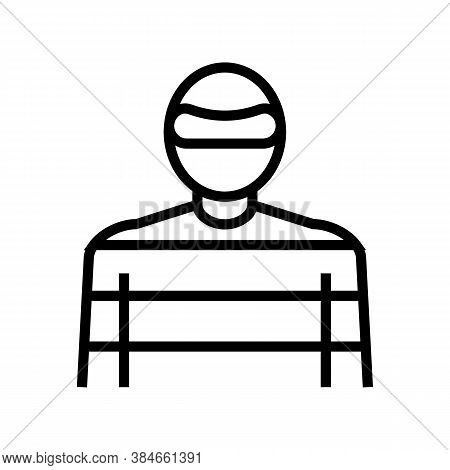 Thief Crime Line Icon Vector. Thief Crime Sign. Isolated Contour Symbol Black Illustration
