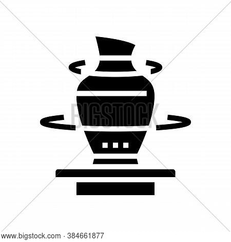 Pottering Leisure Time Glyph Icon Vector. Pottering Leisure Time Sign. Isolated Contour Symbol Black