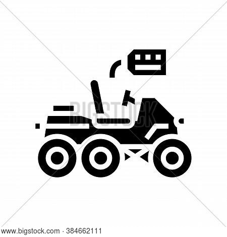 Homemade Vehicle Glyph Icon Vector. Homemade Vehicle Sign. Isolated Contour Symbol Black Illustratio
