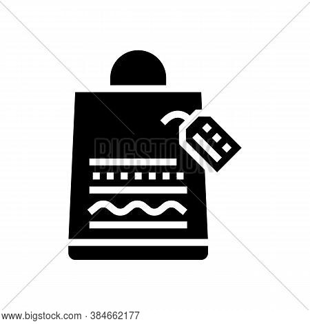 Homemade Bag Glyph Icon Vector. Homemade Bag Sign. Isolated Contour Symbol Black Illustration