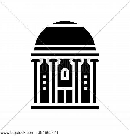 Chapel Building Glyph Icon Vector. Chapel Building Sign. Isolated Contour Symbol Black Illustration