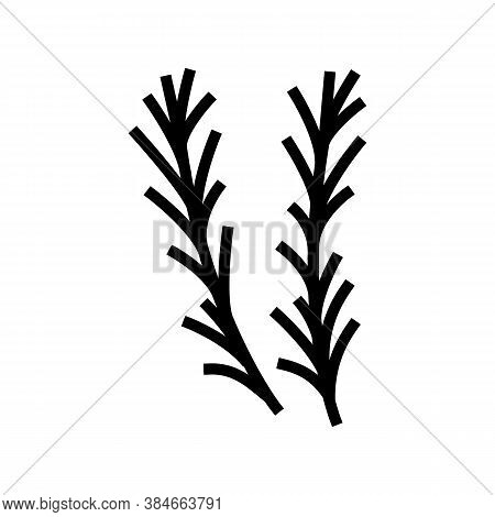 Rosemary Aromatherapy Glyph Icon Vector. Rosemary Aromatherapy Sign. Isolated Contour Symbol Black I