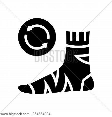 Useless Sock Glyph Icon Vector. Useless Sock Sign. Isolated Contour Symbol Black Illustration