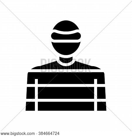 Thief Crime Glyph Icon Vector. Thief Crime Sign. Isolated Contour Symbol Black Illustration