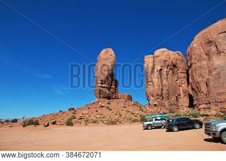 Monument Valley / United States - 08 Jul 2017: Monument Valley In Utah And Arizona