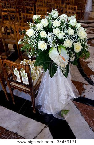 Wedding's floral decorations