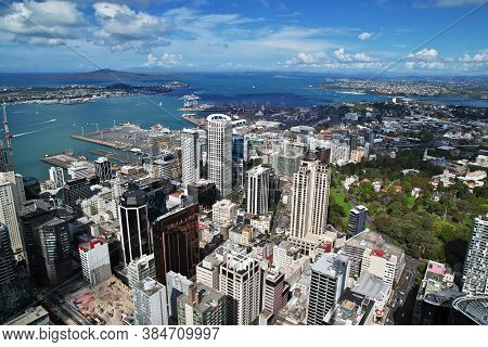 Auckland / New Zealand - 15 Dec 2018: The View On Auckland City, New Zealand