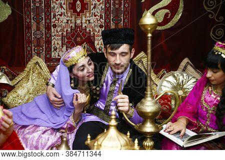 Baku, Azerbaijan-26 May 2017 : Wedding Ceremony, Oriental, Turkish, Azerbaijani Rites, The Bride And