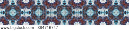 Watercolor Repeat Print.  Multicolor Natural Ethnic Illustration. Indigo And Black Textile Print. As