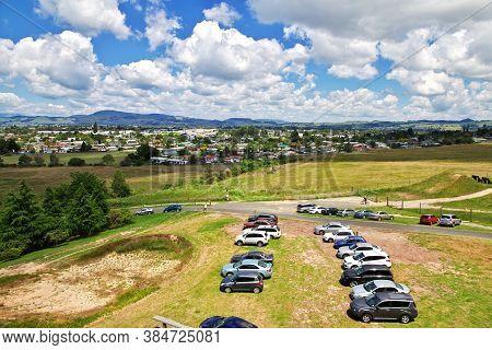 Rotorua / New Zealand - 17 Dec 2018: Parking In Rotorua, New Zealand