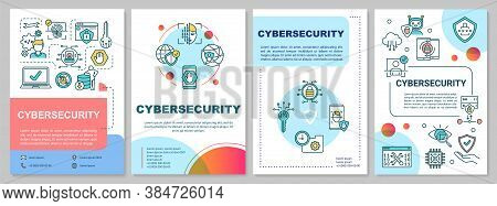 Cybersecurity Framework Brochure Template. Protection Internet Systems. Flyer, Booklet, Leaflet Prin