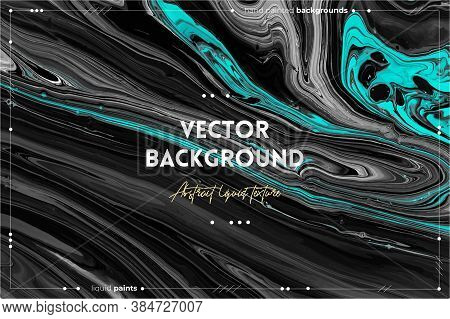 Fluid Art Texture. Background With Abstract Mixing Paint Effect. Liquid Acrylic Picture With Trendy