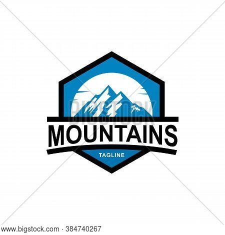 Mountains. Mountain Logo. Mountain Logo Vector. Hills Logo. Mountain Simple Sign. Mountain Icon. Mou