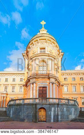 St Petersburg, Russia -october 3, 2016. Mikhailovsky Castle Or Engineers Castle In St Petersburg, Ru