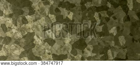 Khaki Texture. Watercolour Camouflage Illustration. Dark Army Textile. Abstract Geometric Design. Gr