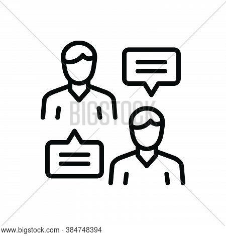 Black Line Icon For Controversial Disputable Vexed Contentious Debatable Impugnable Dialog Debate Di