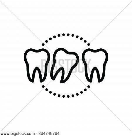 Black Line Icon For Loose Lax Not-secure Relaxed Tooth Dental Dentistry Health Hygiene Medical Mouth