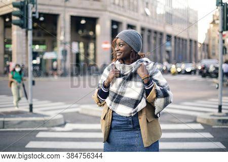 black woman in the street