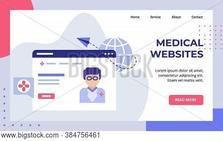 Medical Website Paper Plane Fiying Globe Web Doctor Campaign For Web Website Home Homepage Landing P