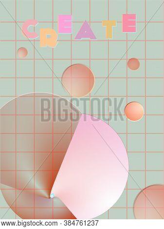 Music Cover In Blue, Violet, Pink, Green Colors. School Concert Flyer. Minimal Line Brochure. Amplit