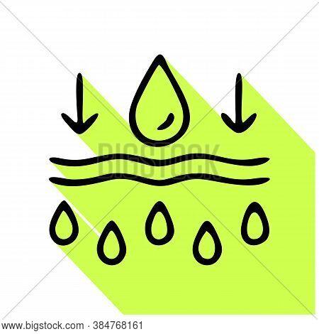 Moisture Line Icon, Vector Pictogram Of Moisturizing Cream. Skincare Illustration, Sign For Cosmetic