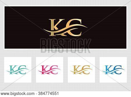 Initial Kc Letters Logo Modern Trendy. Kc Logo Design For Business Corporate Sign