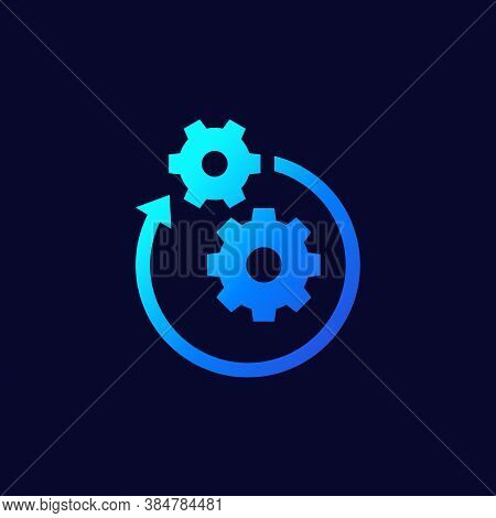 Operation Or Project Icon, Vector, Eps 10 File, Easy To Edit