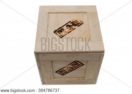 Lake Forest, California / USA - September 10-2020: Man Crates. A Shipping Crate Gift Box filled with products as a special gift to someone special. Editorial Use.