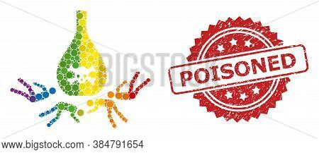 Dead Poisoned People Mosaic Icon Of Circle Blots In Various Sizes And Lgbt Colored Color Tinges, And