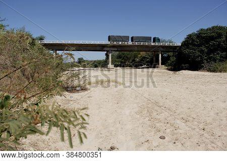 Oliveira Dos Brejinhos, Bahia / Brazil - August 5, 2014: Dry Bed Of The Paramirim River. The River I