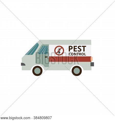 Pest Control Service Van - Insect Extermination Car