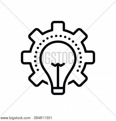 Black Line Icon For Consideration Idea Opinion Thought Thinking Deliberation Mentation