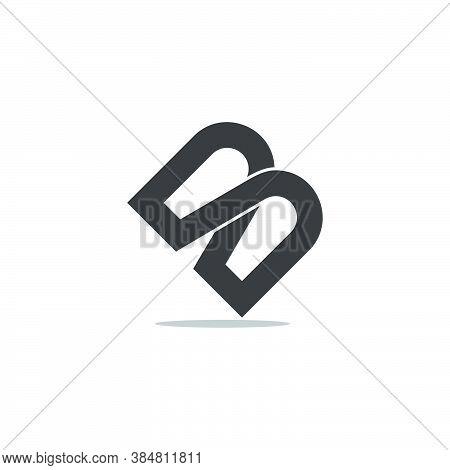Letter Mb Infinity Lines Overlap Design Logo Vector
