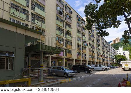 Hong Kong - September 5 2020 : Choi Hung Estate, Rainbow Estate, A Public Housing Estate In Ngau Chi