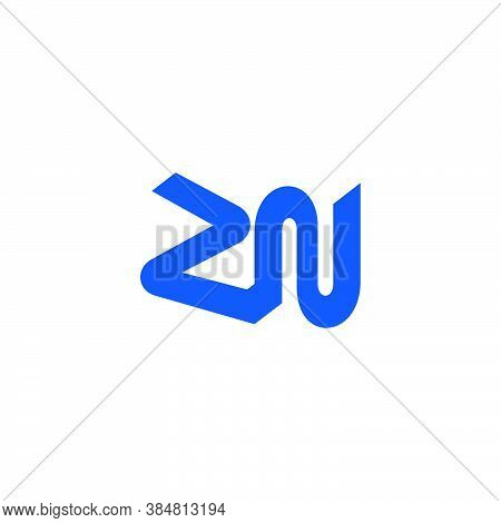 Abstract Letter Zn Simple Linked Geometric Logo Vector