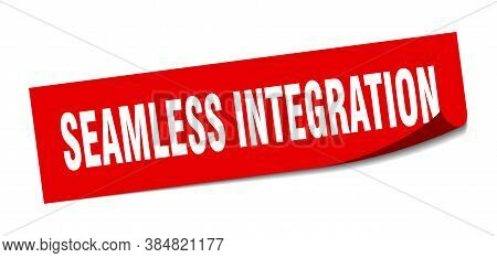 Seamless Integration Sticker. Seamless Integration Square Sign. Peeler
